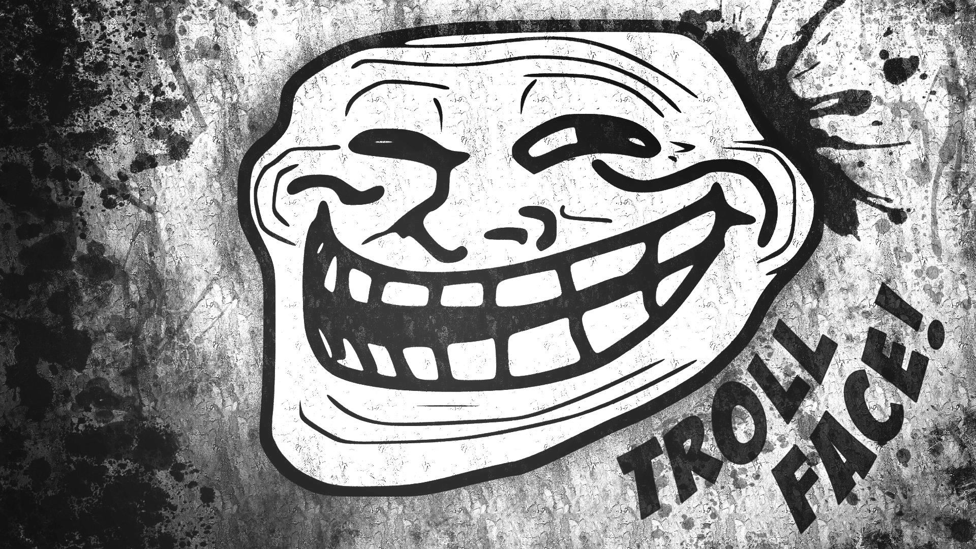 Trollface, a trademarked meme