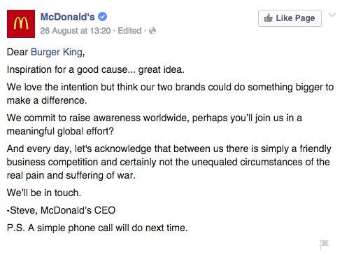 McWhopper - McDonald's response