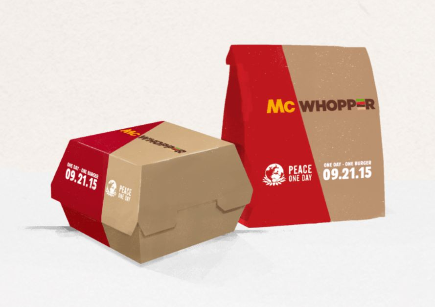 McWhopper packaging